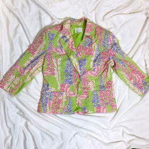Preppie Floral Blazer Jacket - Lily Pulitzer Style